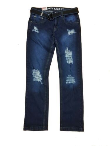 Men Designer Peviani Maryland Slim Fit Ripped Stretch Distressed Denim Jeans