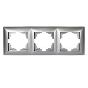 Visage-3-fach-Rahmen-Steckdosen-Schalter-Dimmer-Silber-01281500000143