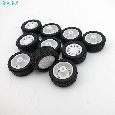 8 1,9mm Gummi Hohl Reifen Auto Rad Modell Räder DIY Spielzeug 10 Stücke 20