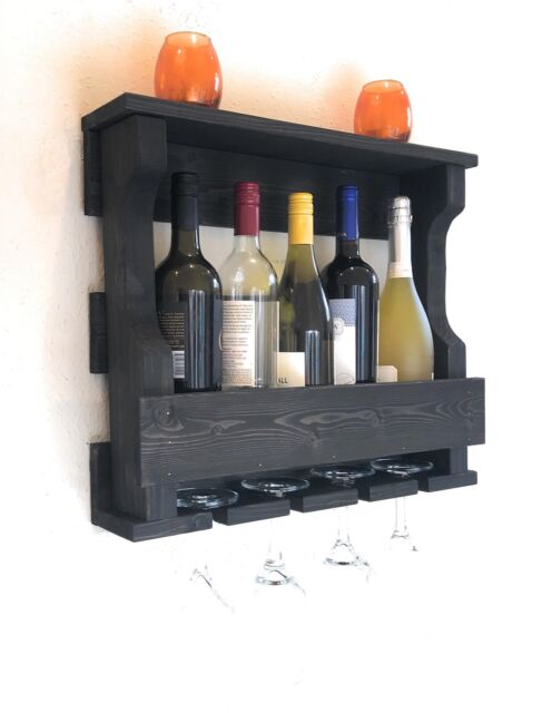 Zeckos Rustic Rooster Wall Mounted 4 Bottle Wine Rack