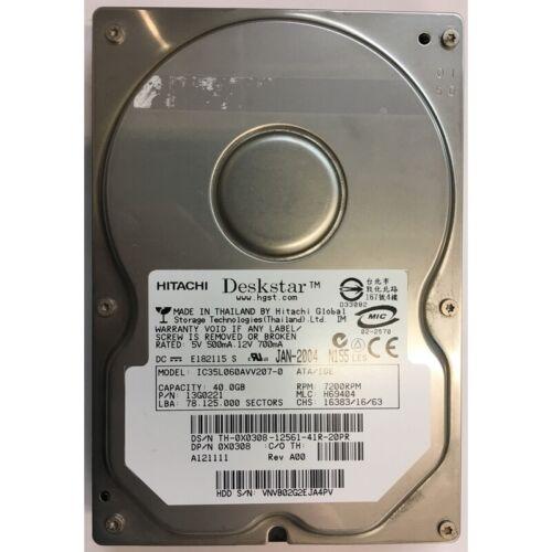 IDE 7200RPM 13G0221 Hitachi 40GB