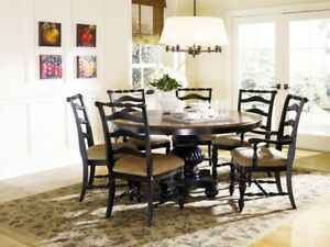 Details about HAVERTY\'S 7 piece Formal Dining Room Set, EXCELLENT  CONDITION, no scratches