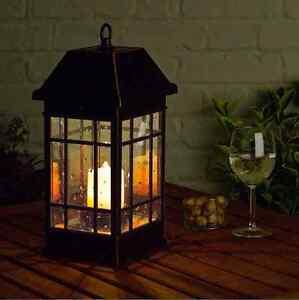 Image Is Loading Solar LED Mission Lantern Handheld Lamp Candle Light