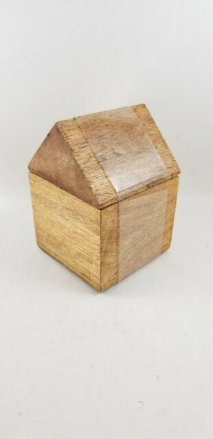 Hearth And Hand With Magnolia Decorative Box Wood House Storage Container New