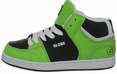 Globe Mace Hi-Kids Chaussure Noir//Poison Vert pour Enfant de Skate Neuf
