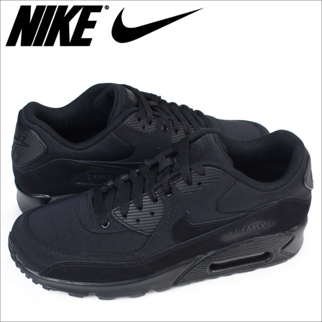 70028e2a91 Frequently bought together. Nike Air Max 90 Essential Triple Black Nylon  Suede 13 Running Shoes 537384-072