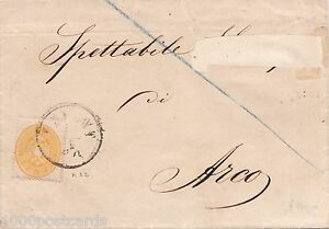 AUSTRIA 1864 folded letter from TRIENT to ARCO - 2 k