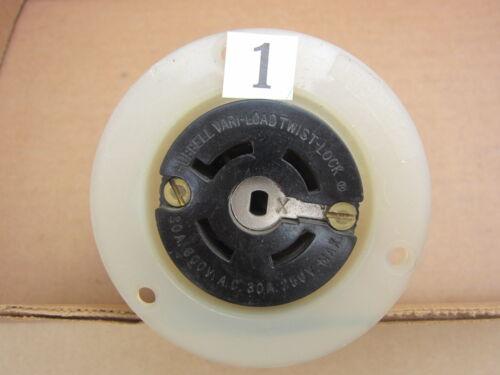 Hubbell 45295 45395 45495 45595 30A 250VDC 600VAC Variload Receptacle Non-NEMA