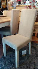 Bentley Designs Provence Two Tone Upholstered Oak Dining Chair Fabric RRP £79.99