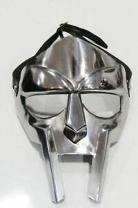 MF Doom mask Silver silk printed MF Doom mask