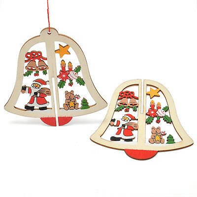 Hot Christmas Party  Bell Decoration Ornaments String Hanging Home Decor Gift 1X