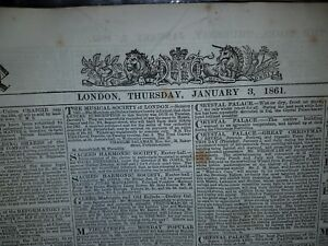 THE-LONDON-TIMES-82-NEWSPAPER-ISSUES-JANUARY-TO-APRIL-1861