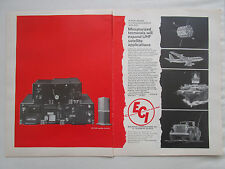 1/1968 PUB ECI ELECTRONIC COMMUNICATIONS SATELLITE TERMINALS JEEP CARRIER AD