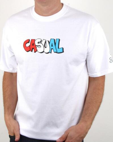 short sleeve crew tee 80s Casual Classics Casual Graffiti T Shirt in White