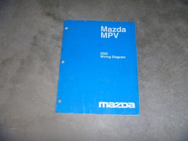 2002 Mazda Mpv Minivan Electrical Wiring Diagram Manual Dx