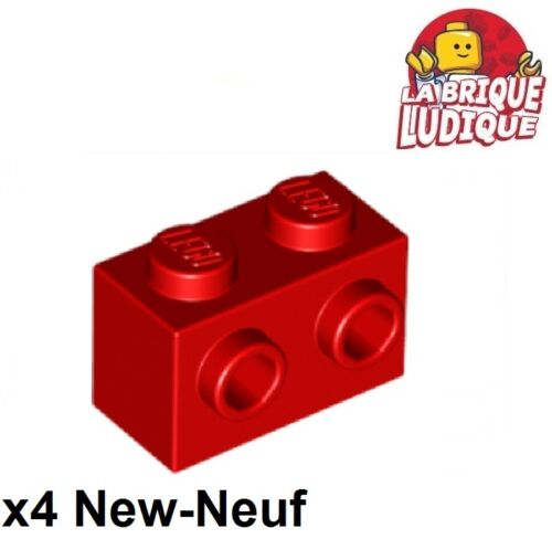 Lego 4x Brique Brick Modified 1x2 studs 1 side rouge//red 11211 NEUF