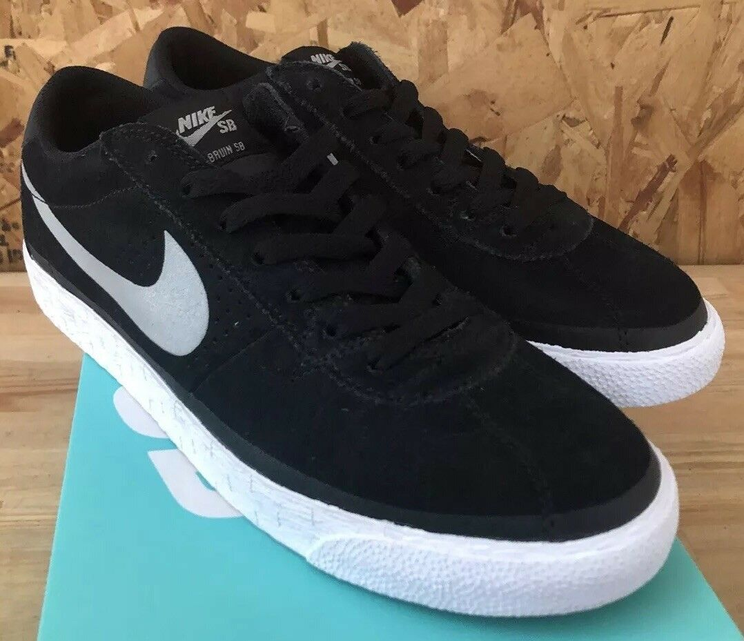 Nike SB Bruin SB Premium SE Black Base Grey White Sz 11 NIB 631041-001