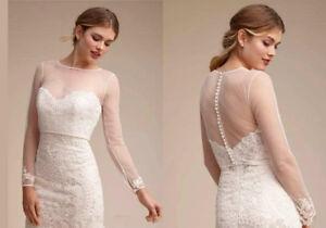 Sheer-Wedding-Bridal-Lace-Bolero-Jackets-Top-Shawl-Long-Sleeve-Jewel-Neck-Wraps
