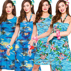 d4f30a20e1607 Image is loading Hawaiian-Ladies-Fancy-Dress-Tropical-Beach-Hawaii-Womens-