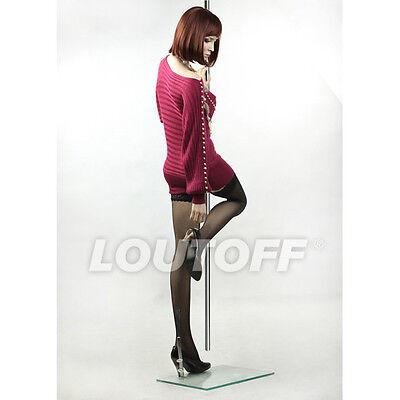 LOUTOFF Fashion Weiblich Schaufensterpuppe Pole Dance Mannequin für Schaufenster