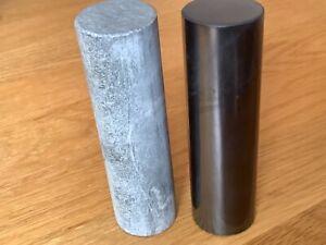 Shungite & Soapstone Cylinder Harmoniser Set. Meditation. Energy Balancing 10cm