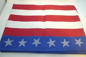 July-4th-Flag-Lot-6-Table-Placemats-14-034-x-19-034-Red-White-Blue-Stars
