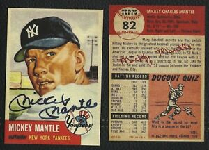 Details About Lot Of 25 Reprint 1953 Topps 82 Mickey Mantle With Autograph Yankees Hof
