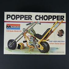 Vintage 1973 Copyright Popper Chopper 1/8 Scale Model - BOX & DECALS Only