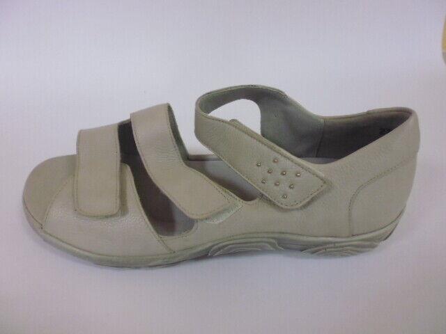 Bosque alfil talla 9 (43) sandalias zapatos de cierre de velcro beige