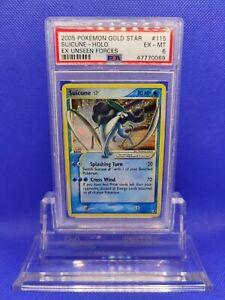 Suicune-Gold-Star-PSA-6-EX-MT-2005-EX-Unseen-Forces-Pokemon