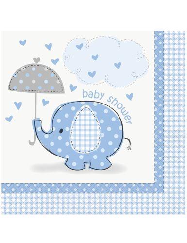 Confezione 16 Tovaglioli  Carta Baby Shower Nascita Bimbo PS 11131