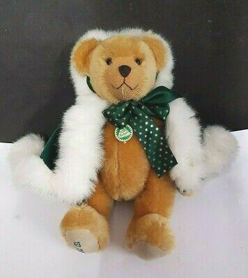 """Dolce Hermann Bear """"winter Wonderland"""" Teddy Bear Con Green Cape. N. 137/2000-mostra Il Titolo Originale Funzionalità Eccezionali"""