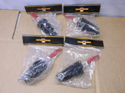 """Lot of Four 9/"""" x 3/"""" Spoke Cleaning Brushes for Motorcycles NEW!!!"""