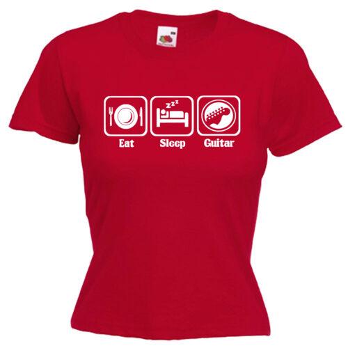 Guitar Ladies Lady Fit T Shirt 13 Colours Size 6-16