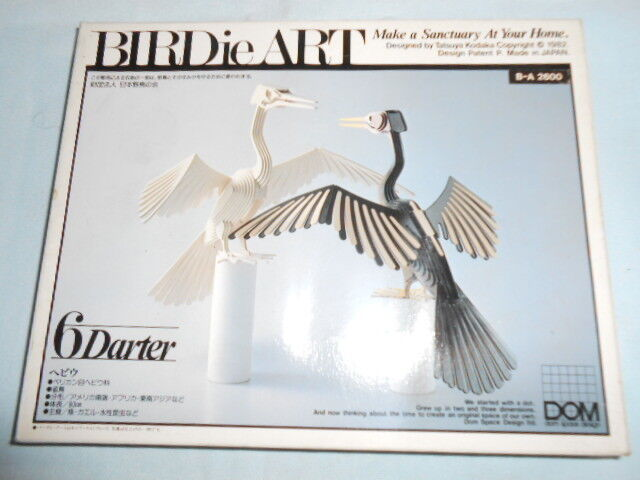 DOM Birdie Art Darter Bird Model Kit Wood CRAFT YONEZAWA Tatsuya Kodaka Japan