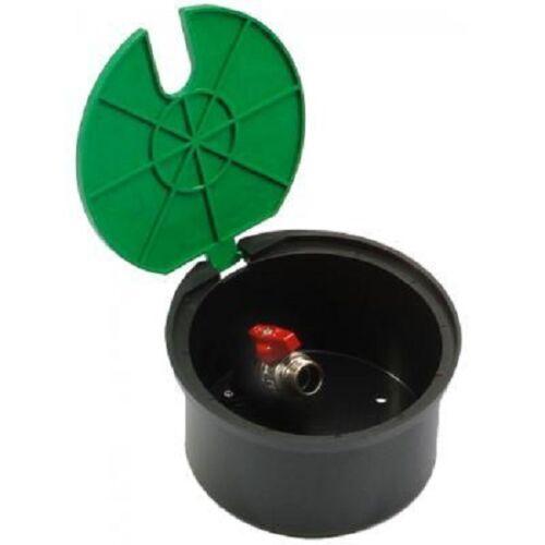 """Rund Bewässerung Hydrant Wasser Ventil Kiste mit Eingebautem 3//4"""" Grün Deckel"""