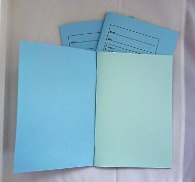 Dyslexia//Visual Stress Pack of 10 Tinted A4 7mm Lined Coloured Paper Exercise Books - Lilac Paper
