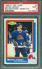 1986 OPC #E MICHEL GOULET BOX BOTTOM PSA 9 MINT