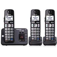 Panasonic Kx-tge233b Dect 6.0 1.90 Ghz Cordless Phone - Black - Pankxtge233b