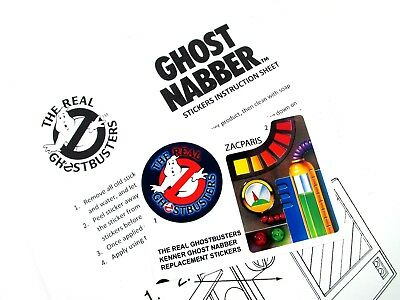 THE REAL GHOSTBUSTERS REPLACEMENT STICKERS for KENNER Ecto Headphones /'Pre-cut/'