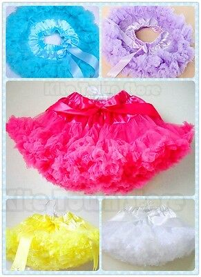 Baby Kids Girls Dancewear Cute Chiffon Pettiskirt Princess Dress Tutu Skirt 1-8Y
