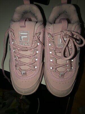 fila trainers Junior 12 Pink   eBay