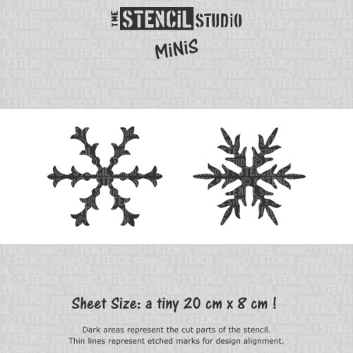 Christmas Craft Stencils for DIY cards.10549 Snowflakes Christmas STENCIL MiNiS