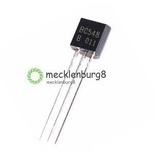 50PCS NEW TO-92 BC548 NPN 30V 0.1A Transistor