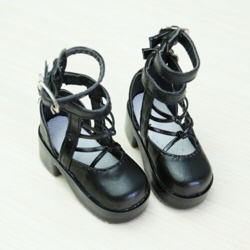 """1//4 Black Flats Shoes Pantshoes For 17/"""" Girl BJD Doll MSD MK  Synthetic Leather"""