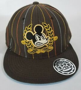 Disney Embroidered Angry Mickey Mouse Ball Cap Hat Size M/L 59CM