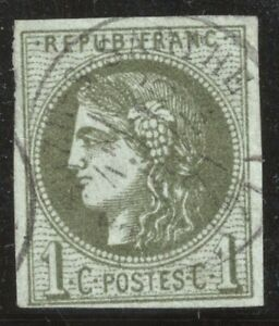 n-39A-Bordeaux-Ceres-1c-olive-Report-1-oblitere-CAD-1870-TB-Signe-Calves