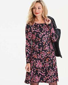 2d1765991407 Capsule - Black Pink Multi Floral Long Sleeve Swing Dress Uk 24 ...