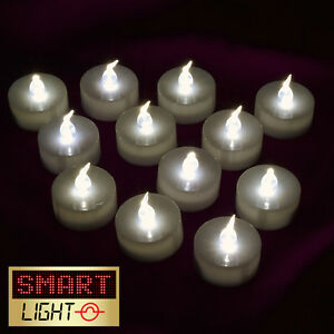 Smartlight white flameless led tea light candles battery for Ikea tea light battery