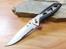 "Gerber 8"" XL Outrigger A/O Folding Knife Folder Plunge Lock Combo Edge EDC 0690"